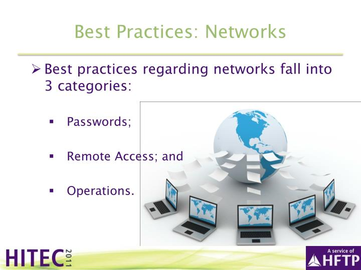Best Practices: Networks