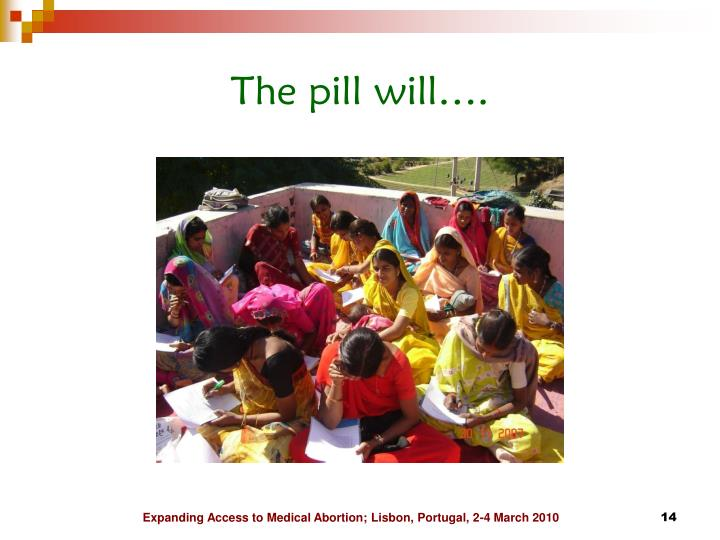 The pill will….