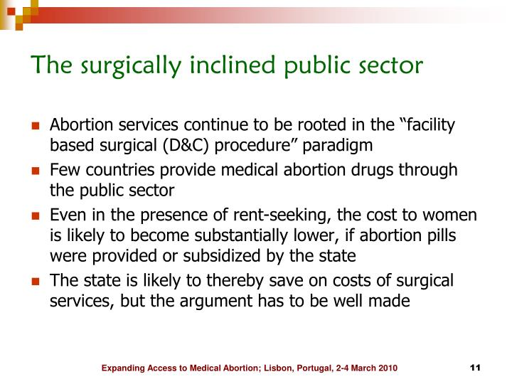 The surgically inclined public sector