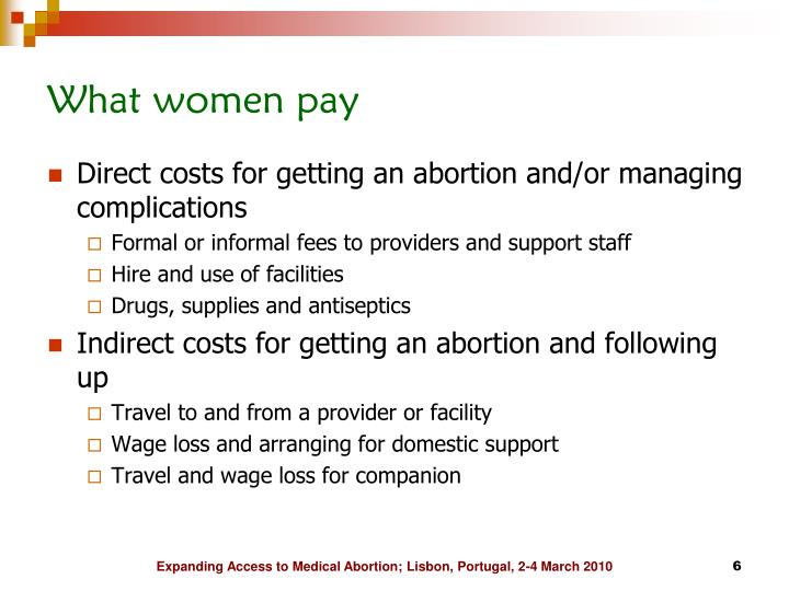 What women pay