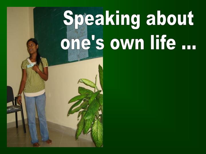 Speaking about