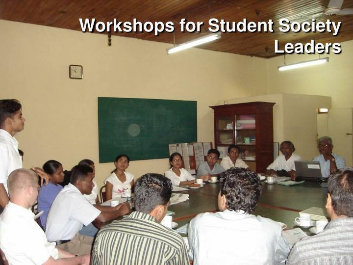 Workshops for Student Society Leaders