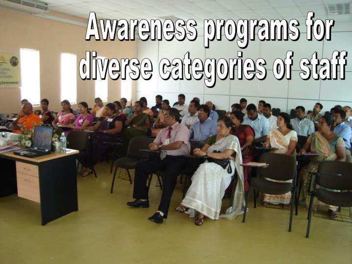 Awareness programs for