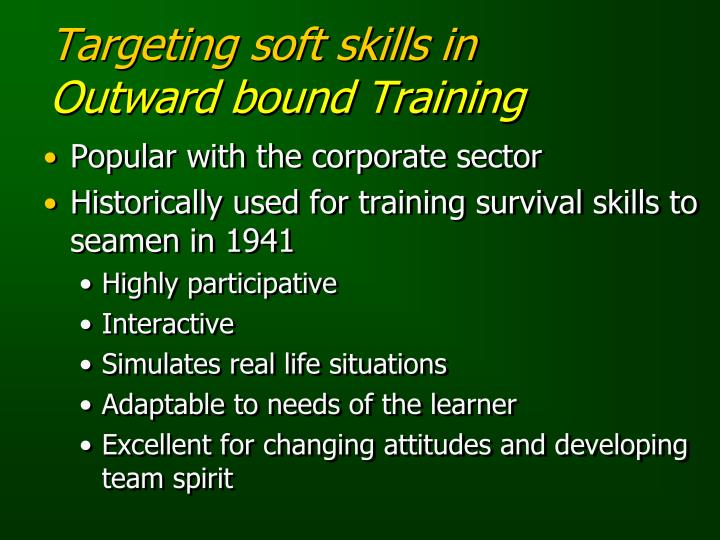 Targeting soft skills in