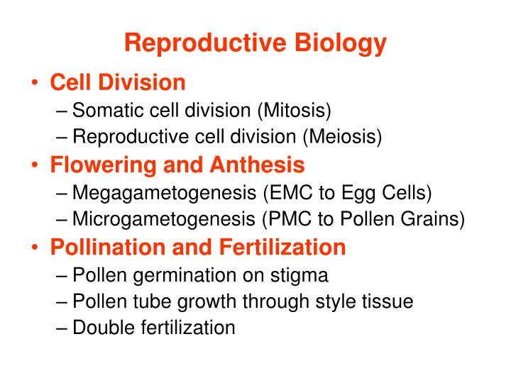 Reproductive biology