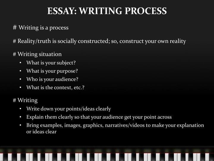 ESSAY: WRITING PROCESS