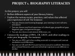 project 1 biography literacies