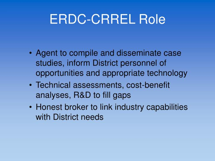 ERDC-CRREL Role