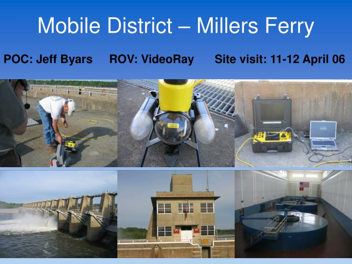 Mobile District – Millers Ferry