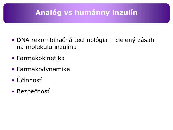 Analóg vs humánny inzulín