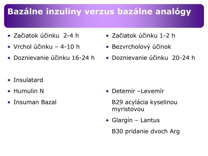 Bazálne inzulíny verzus bazálne analógy