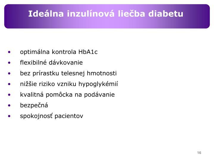 Ideálna inzulínová liečba diabetu