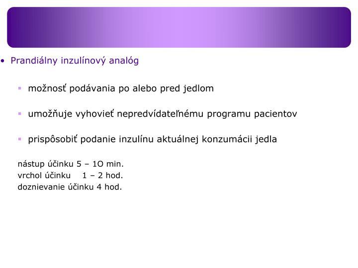 Prandiálny inzulínový analóg