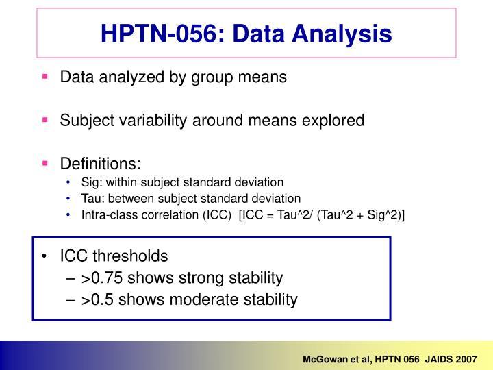 McGowan et al, HPTN 056  JAIDS 2007