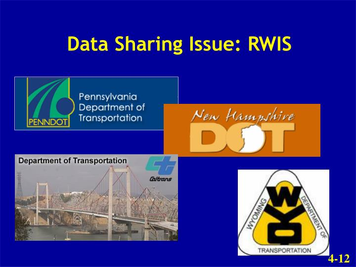 Data Sharing Issue: RWIS