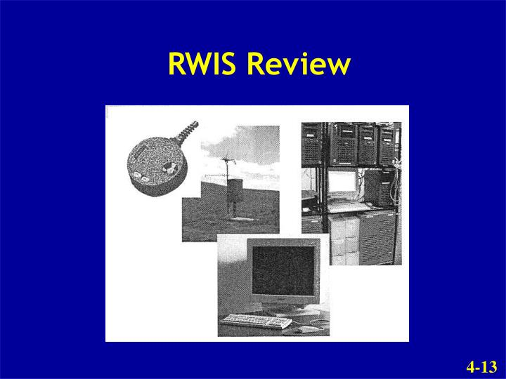 RWIS Review