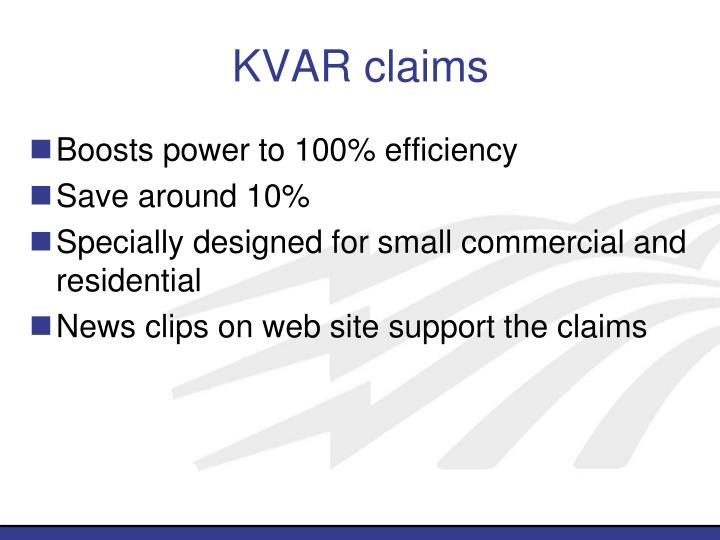 KVAR claims