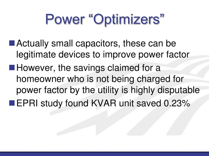 "Power ""Optimizers"""