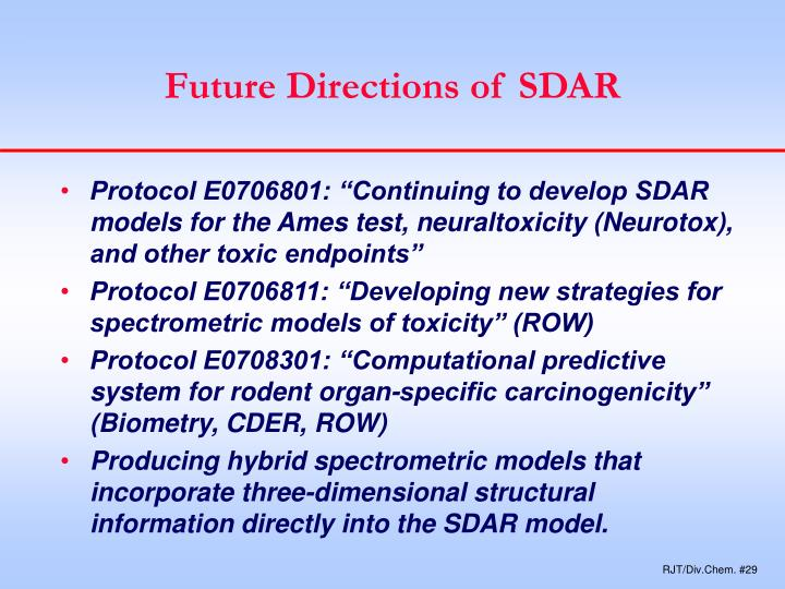 Future Directions of SDAR