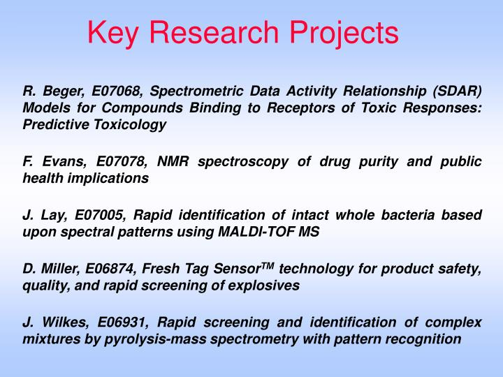 Key Research Projects