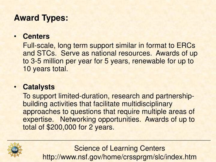 Award Types:
