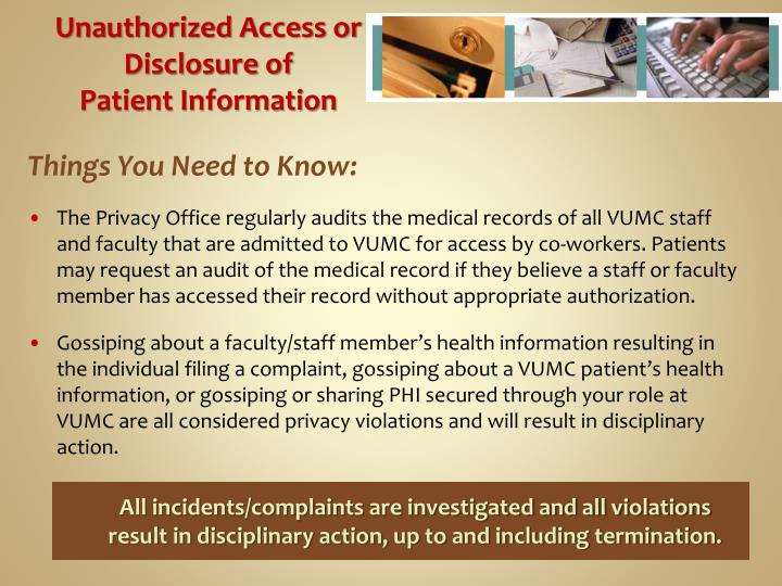 Unauthorized Access or Disclosure of