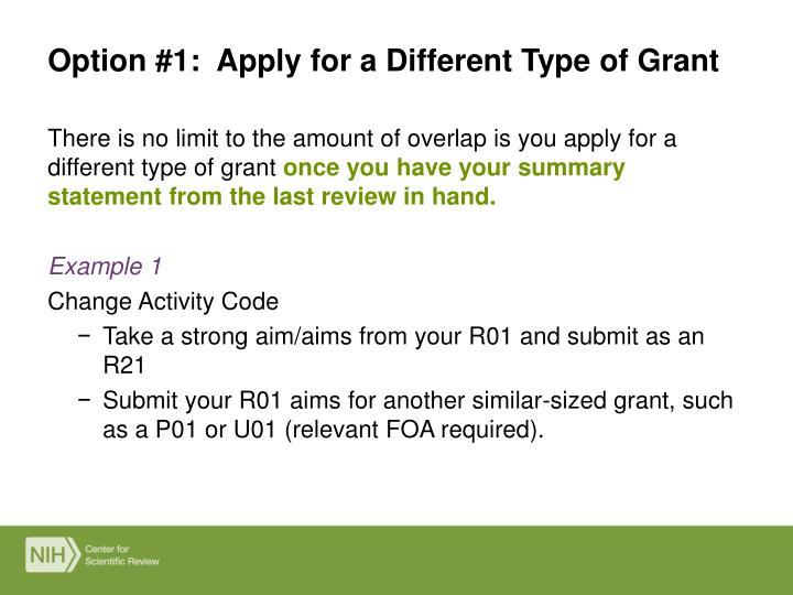 Stock options grant type