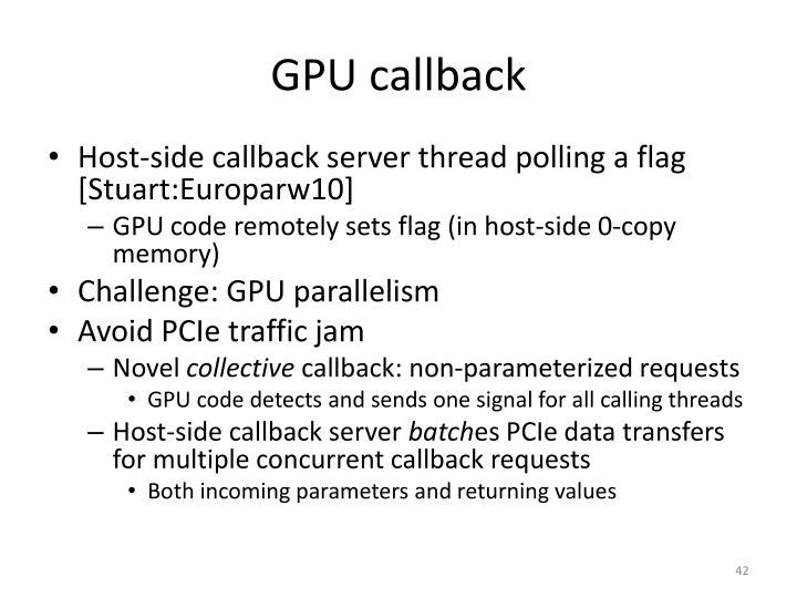 GPU callback