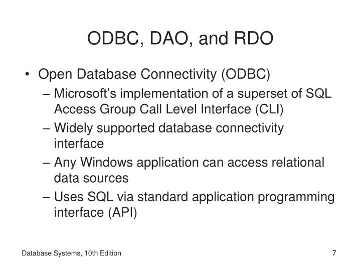 ODBC, DAO, and RDO