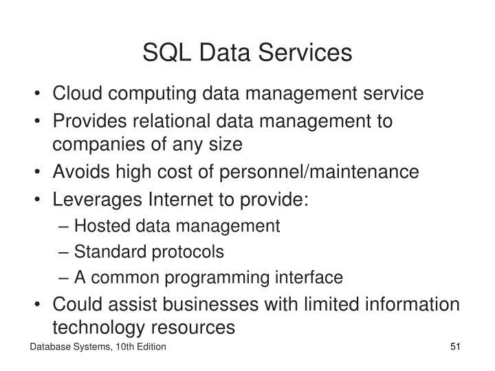 SQL Data Services