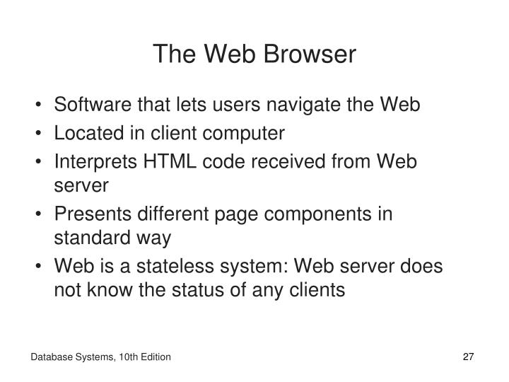 The Web Browser