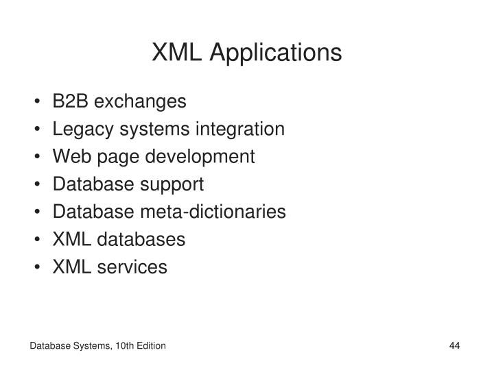 XML Applications