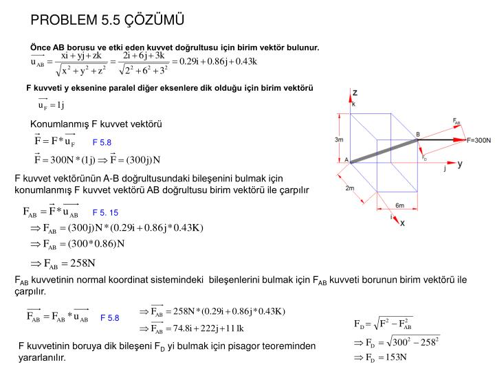 PROBLEM 5.5 ÇÖZÜMÜ