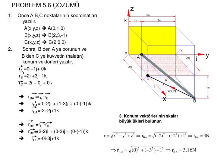 PROBLEM 5.6 ÇÖZÜMÜ