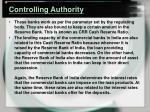 controlling authority