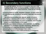 ii secondary functions