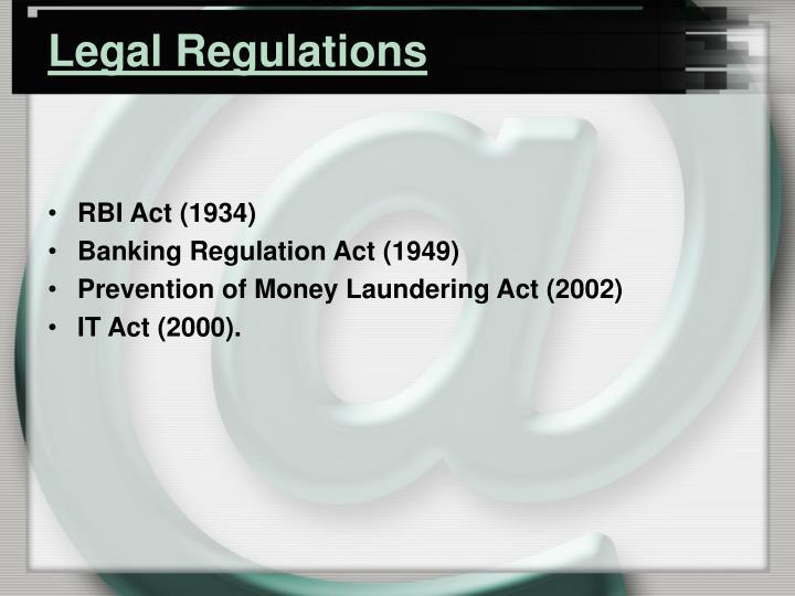 Legal Regulations