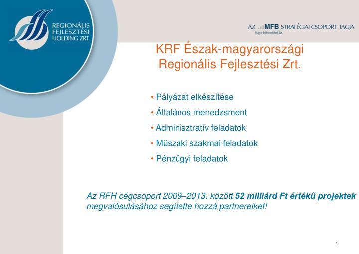KRF Észak-magyarországi Regionális Fejlesztési
