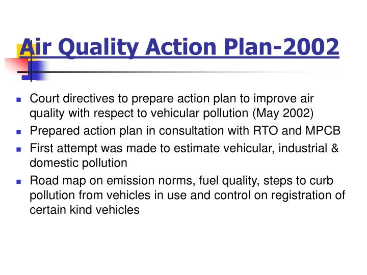 Air Quality Action Plan-2002