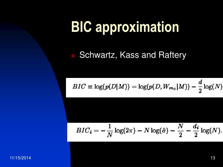 BIC approximation