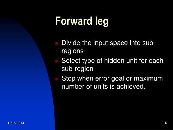 Forward leg
