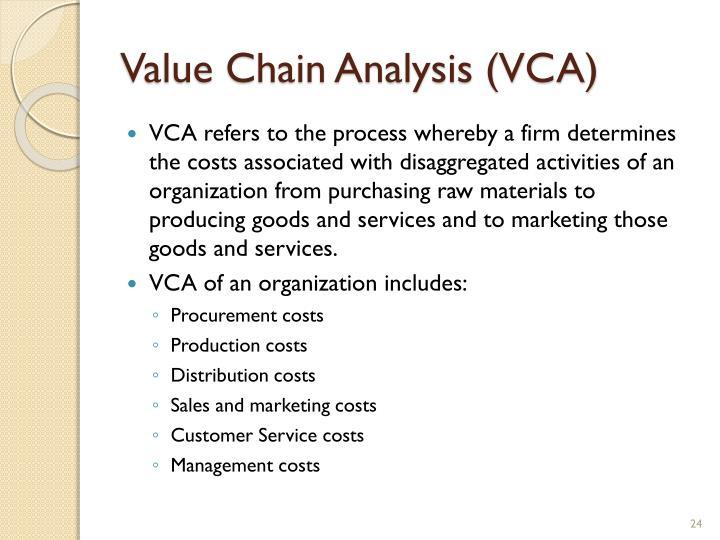 Value Chain Analysis (VCA)