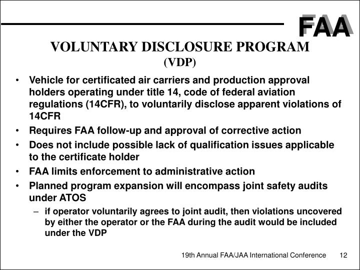 VOLUNTARY DISCLOSURE PROGRAM