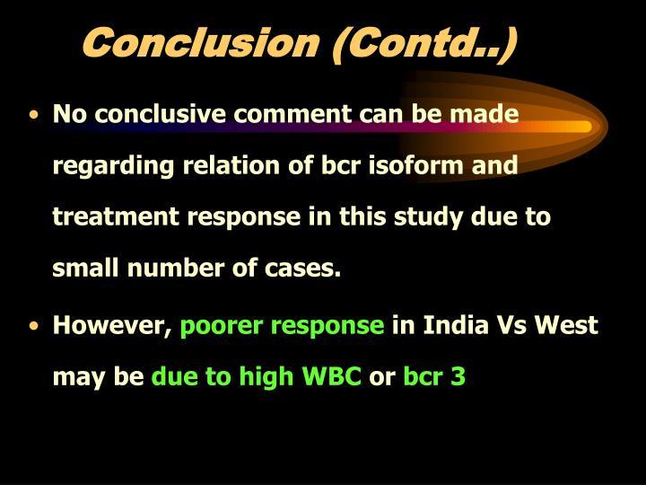 Conclusion (Contd..)