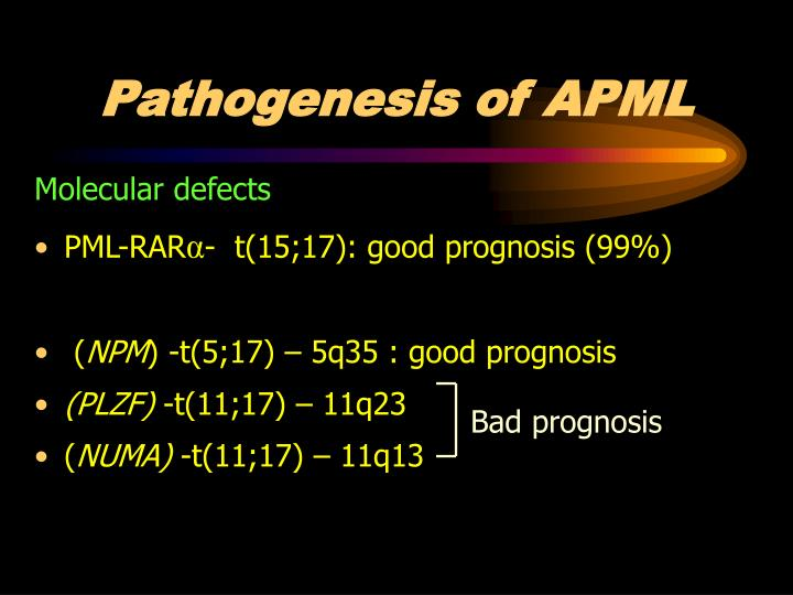 Pathogenesis of APML