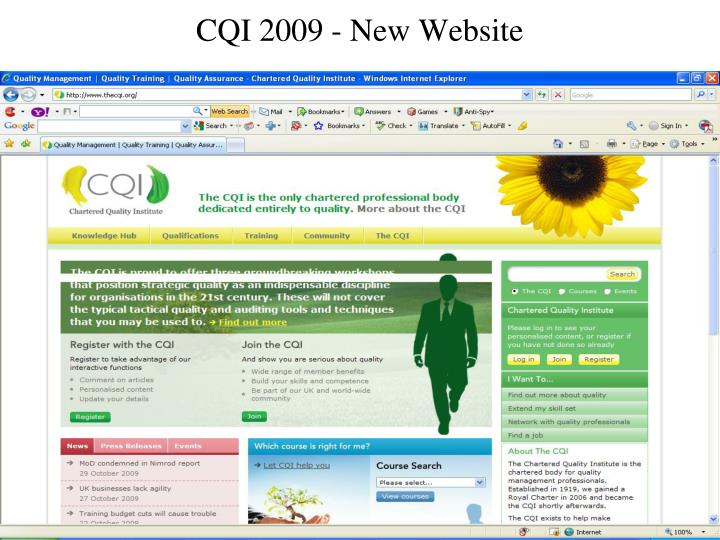 CQI 2009 - New Website