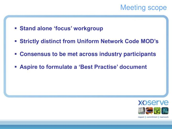 Meeting scope