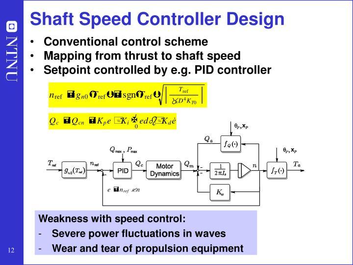 Shaft Speed Controller Design