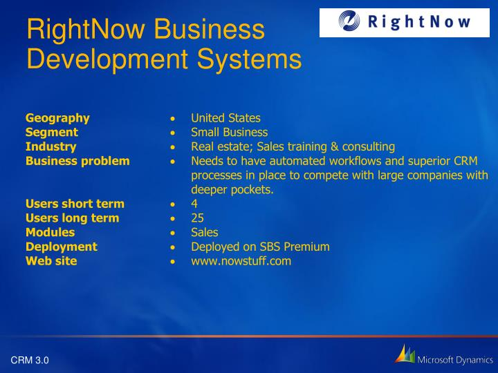 RightNow Business