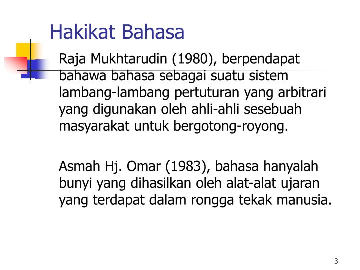 Hakikat Bahasa